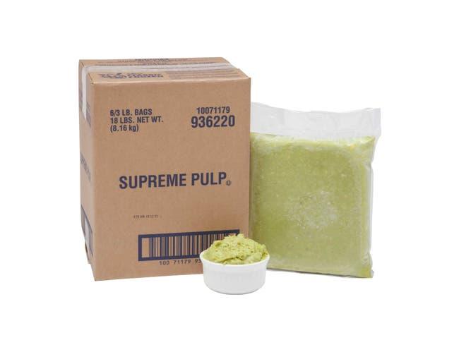 Simplot Supreme Avocado Pulp, 3 Pound -- 6 per case.