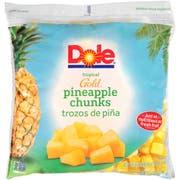 Dole Individual Quick Frozen Chunk Pineapple, 5 Pound -- 2 per case.