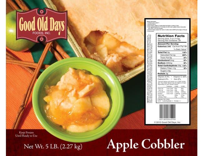 Good Old Days Apple Cobbler, 5 Pound -- 2 per case.