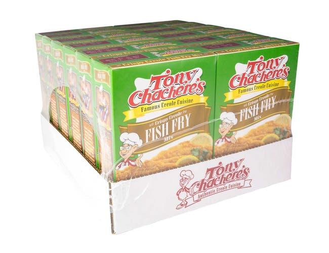 Tony Chacheres Crispy Creole Fish Fry Mix, 10 Ounce -- 12 per case.
