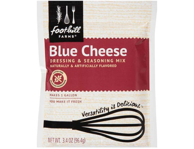 Foothill Farms Blue Cheese Dressing Mix, 3.4 Ounce -- 18 Case