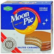Moon Pie Salted Caramel Double Decker Marshmallow Sandwich, 8 count per pack -- 8 per case.