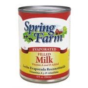 Oatkamilk Spring Farm Filled Evaporated Milk, 12 Fluid Ounce -- 48 per case.