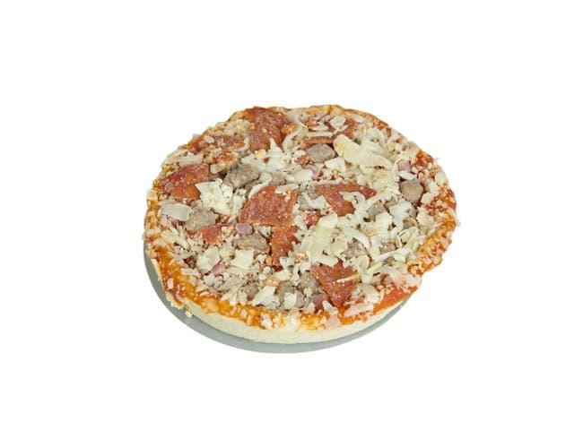 Schwans Red Baron Meat Trio Par Baked Pizza, 6 Ounce -- 12 per case.