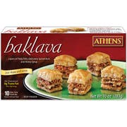 Athens Foods Bite Size Walnut Pastry Baklava, 10 Ounce -- 12 per case.