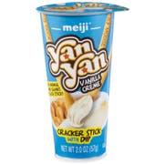 Yan Yan Vanilla Creme Cracker Stick with Dip, 10 count per pack -- 8 per Case.