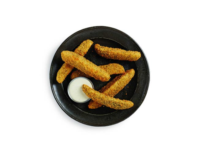 McCain Anchor Breaded Dill Pickle Spear - Appetizer, 4 Pound -- 4 per case.