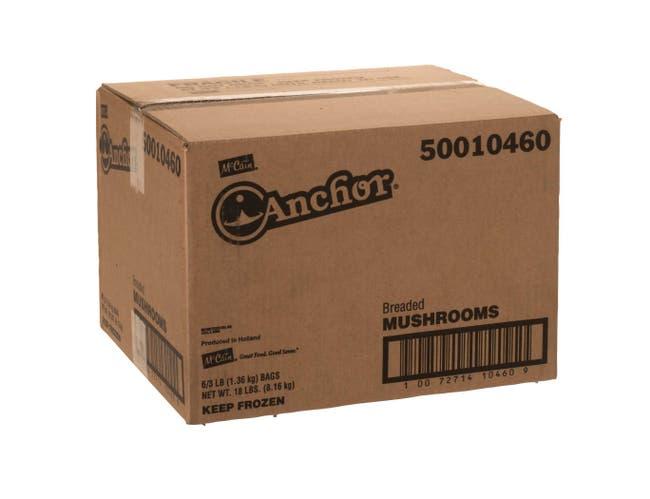 McCain Anchor Breaded Mushroom, 3 Pound -- 6 per case.