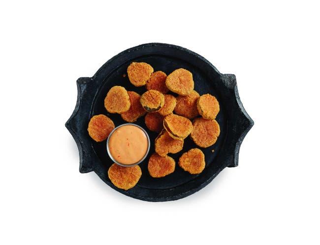 Golden Crisp Original Breaded Pickle Slice Chips, 2.5 Pound -- 6 per case.