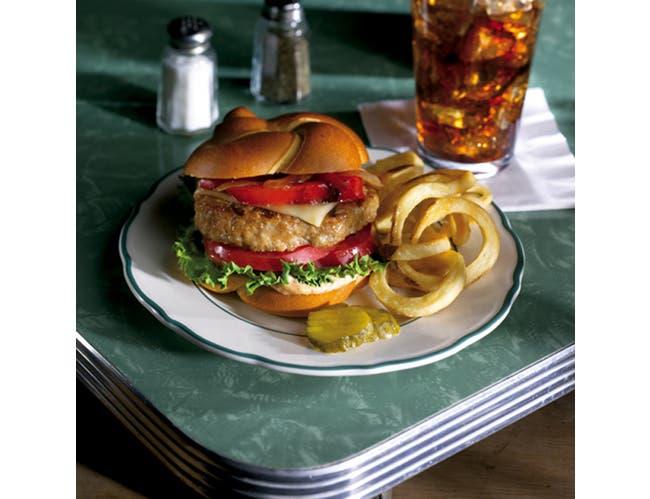 Perdue Farms RTC Mediterranean Flavor White Meat Turkey Burger, 5.33 Ounce Patty -- 1 each.