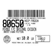 Perdue Fully Cooked Chicken Breast Chunk Fritter, 5 Pound -- 2 per case.