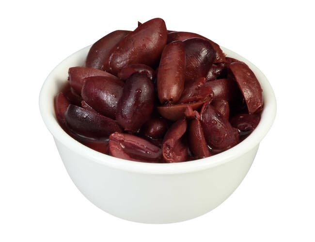 Pearls Kalamata Sliced Olives, 7 Ounce -- 6 per case.