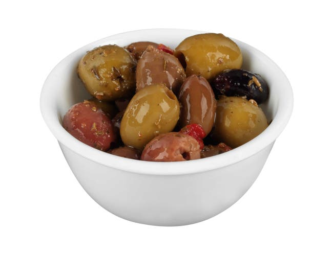 Pearls Specialties Greek Pitted Medley Olives, 6.3 Ounce -- 6 per case.