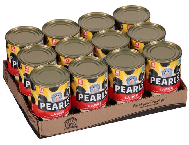 Pearls Large Pitted Ripe Olives, 6 Ounce -- 24 per case.