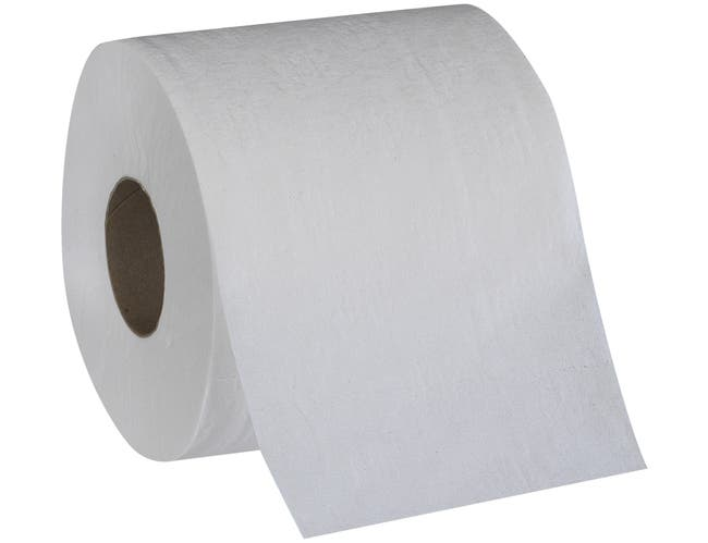 Pacific Blue White 2-Ply Standard Roll Embossed Bathroom Tissue -- 80 per case