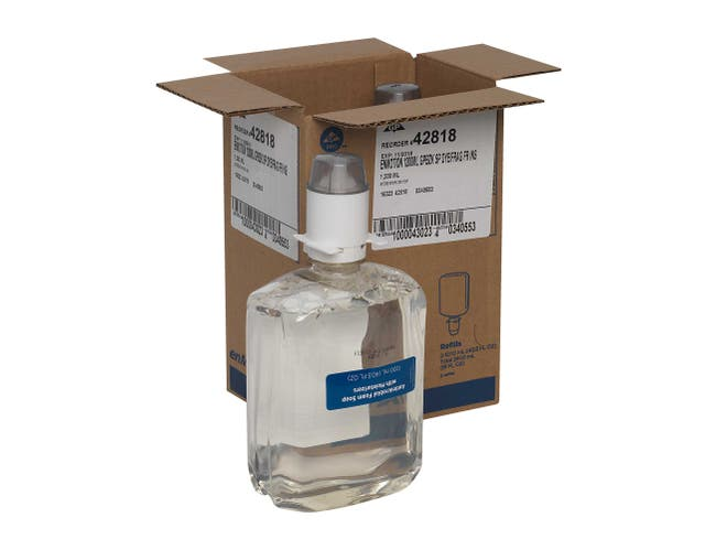 Georgia Pacific enMotion Gen2 Moisturizing Antimicrobial E2 Rated Foam Soap Dispenser Refill -- 2 per case.