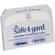 Safe T Gard 1/2 Fold Toilet Seat Covers -- 1000 per case