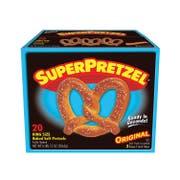 J and J Snack Super King Size Baked Soft Pretzel, 5 Ounce -- 80 per case.