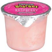Luigis Raspberry Sherbet Cup, 4 Ounce -- 96 per case.