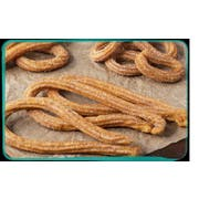 J and J Snacks California Churros Medium Loop Pre Fried Churros, 38 Gram -- 100 per case