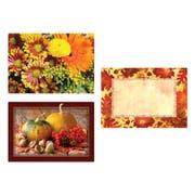 Hoffmaster 3 Designs Autumn Days Paper Placemat, 9.75 x 14 inch -- 1000 per case.