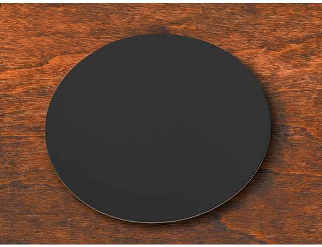 Hoffmaster Round Light Weight Black Coaster, 4 inch -- 500 per case.