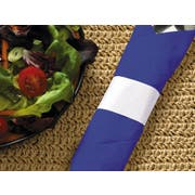 Hoffmaster White Paper Napkin Band, 4.25 x 1.5 inch -- 5000 per case.