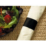 Hoffmaster Black Paper Napkin Band, 4.25 x 1.5 inch -- 5000 per case.