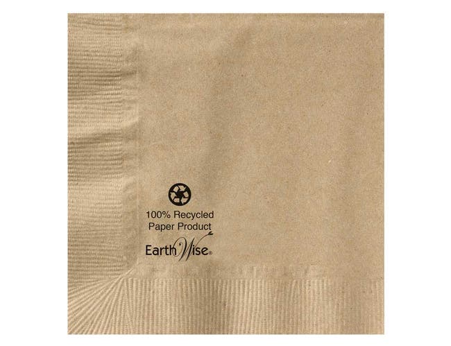 Hoffmaster Earth Wise 2 Ply Kraft Beverage Napkin, 10 x 10 inch -- 3000 per case.