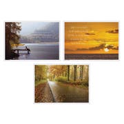Hoffmaster 3 Designs Inspirational Paper Placemat, 10 x 14 inch -- 1000 per case.