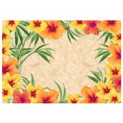 Hoffmaster Hibiscus Paper Placemat, 9.75 x 14 inch -- 1000 per case.