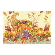 Hoffmaster Fall Bounty Paper Placemat, 9.75 x 14 inch -- 1000 per case.