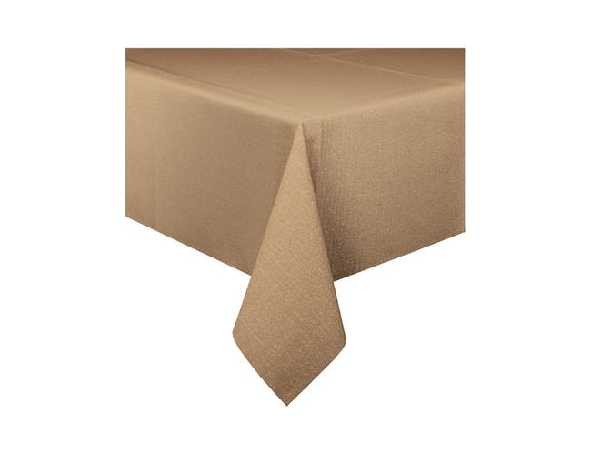Hoffmaster Linen Like Natural Recycled Weave Tablecover, 50 x 108 inch -- 24 per case.