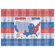 Hoffmaster Us State Facts Placemat, 9.75 x 14 inch -- 1000 per case.