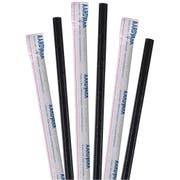 Aardvark Wrapped Black Jumbo Paper Straw, 7.75 inch -- 3200 per case
