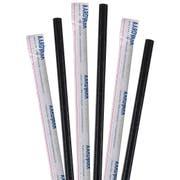 Aardvark Wrapped Black Jumbo Paper Straw, 10 inch -- 3200 per case