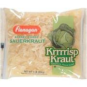 Flanagan Sauerkraut - 1 lb. poly bags, 24 bags per case.