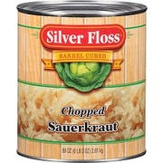 Silver Floss Chopped Sauerkraut - No. 10 can, 6 cans per case.