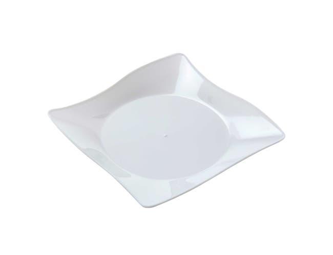 WNA Petites White Square Plate, 4 inch -- 200 per case.
