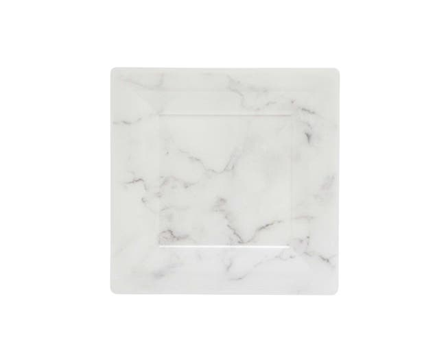 WNA Quarry White Square Plate, 6.5 inch -- 10 per case.