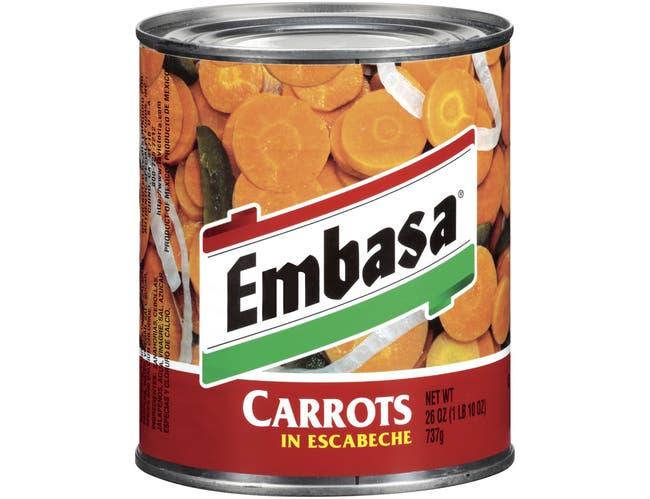 Embassa Carrot in  Escabeche - 26 oz. can, 12 cans per case