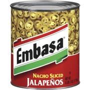 Embasa Nacho Sliced Jalapeno Pepper, 98 ounce -- 6 per case