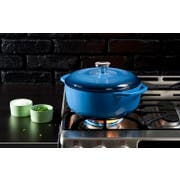 Lodge Blue Dutch Oven, 4.6 Quart -- 1 each.