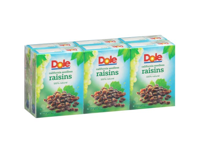 Dole California Seedless Raisins, 1.5 ounce -- 144 per case