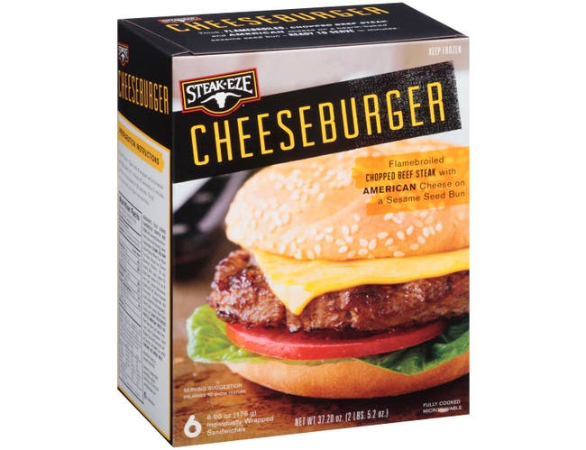 Steak Eze Cheeseburger, 37.2 Ounce -- 6 per case.