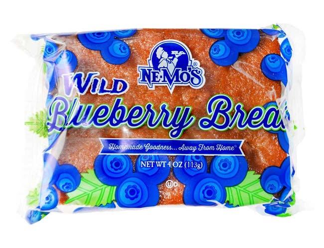 Ne-Mos Wild Blueberry Cake Bread, 4 Ounce -- 12 per case.