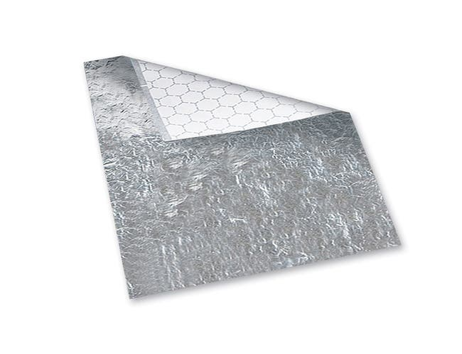 Hoffmaster Silver Honeycomb Insulated Sandwich Foil Wrap, 12 x 12 inch -- 2000 per case.