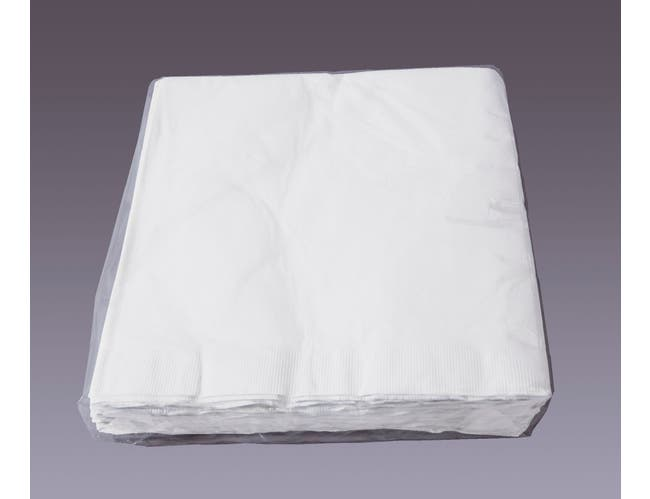 Hoffmaster 2 Ply White Paper Dinner Napkin, 15 x 17 inch, 50 count per pack -- 60 per case.