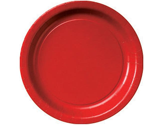 Hoffmaster Paper Red Round Luncheon Plate, 7 inch -- 400 per case.