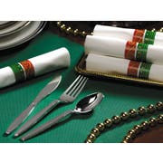 Hoffmaster FashnPoint Festive Holiday Napkin Metallic Cutlery Kit, 15 1/2 x 15 1/2 inch 50 count per pack -- 2 per case.